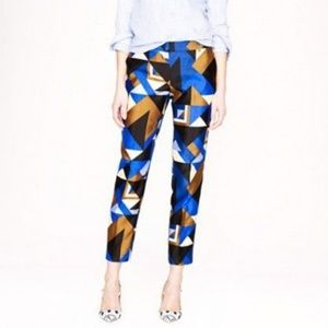 NWOT J.Crew collection Cubist print pants sz.4